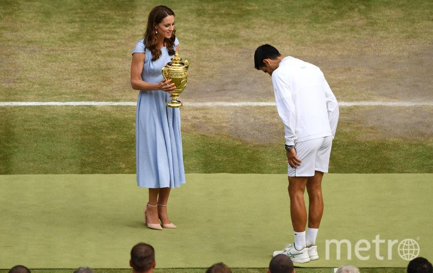 Кейт Миддлтон и сербский теннисист Новак Джокович. Фото Getty