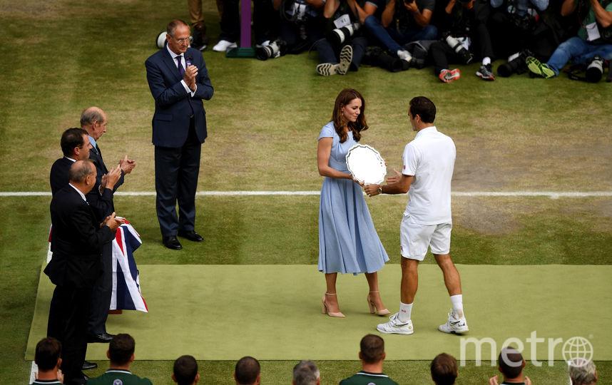 Кейт Миддлтон и Роджер Федерер. Фото Getty