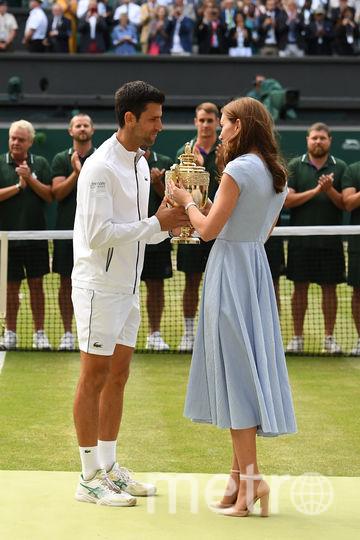 Кейт Миддлтон и сербский теннисист Новак Джокович. Фото AFP