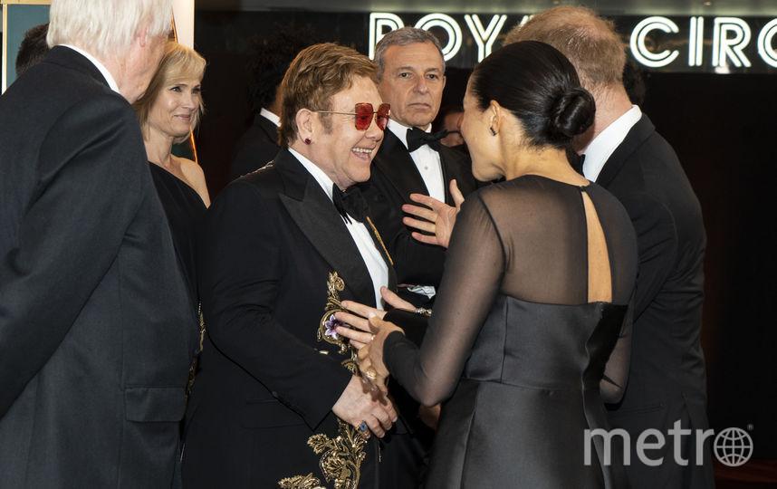 """Меган Маркл и принц Гарри на премьере фильма """"Король Лев"""". Фото Getty"""