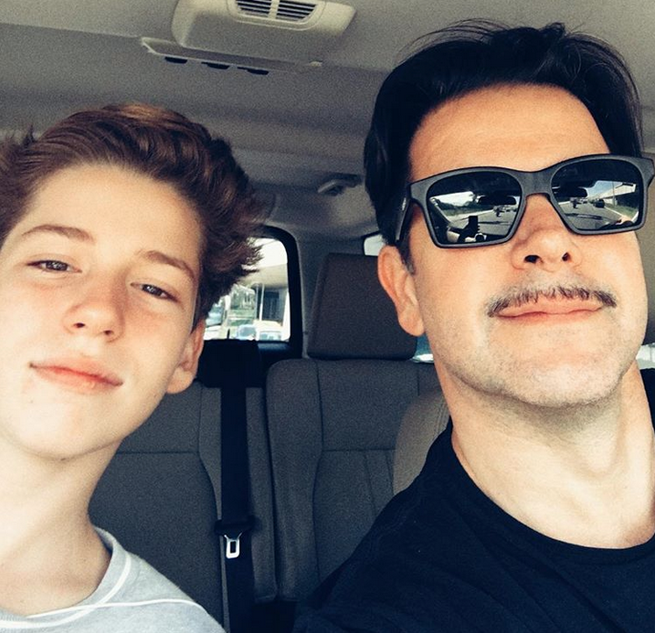 Мурилу Бенисиу и его сын Пьетро. Фото Скриншот Instagram: @murilobeniciooficial