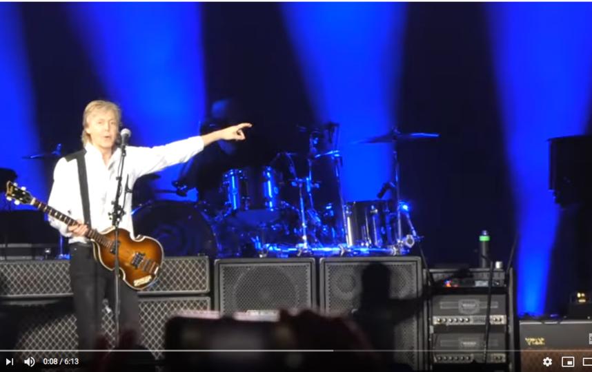 Пол Маккартни пригласил выступить Ринго Старра. Фото Скриншот Youtube