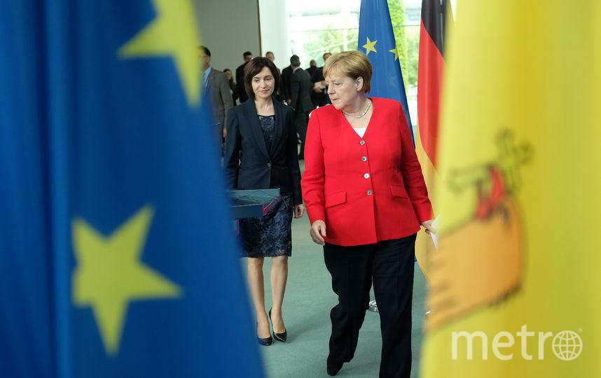 Встреча Меркель с премьером Молдавии. Фото Getty
