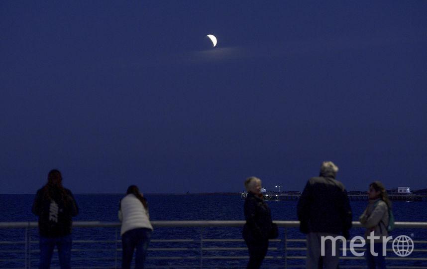 В ночь с 16 на 17 июля жители Земли могли наблюдать частичное лунное затмение. Фото AFP