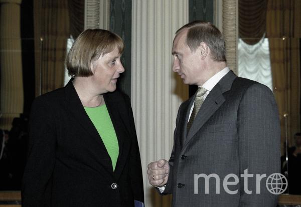 Лидер ведущей оппозиционной партии Германии ХДС Ангела Меркель и Президент РФ Владимир Путин. 2000 год. Фото РИА Новости