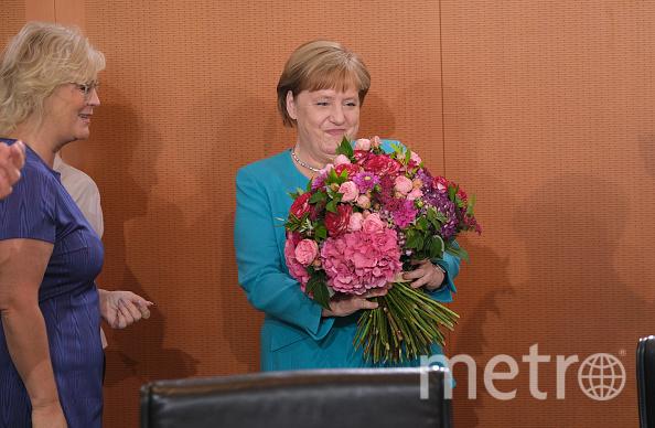 Ангела Меркель сегодня принимает поздравления. Фото Getty