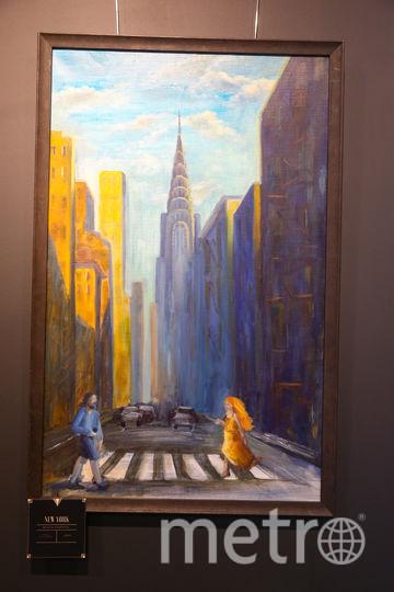 Картина Натальи Воробьёвой «Нью-Йорк». Фото Василий Кузьмичёнок