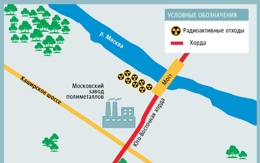 """Вот так, согласно карте, размещённой на сайте префектуры ЮВАО, может пройти Юго-Восточная хорда. Фото графика: Андрей Казаков, """"Metro"""""""