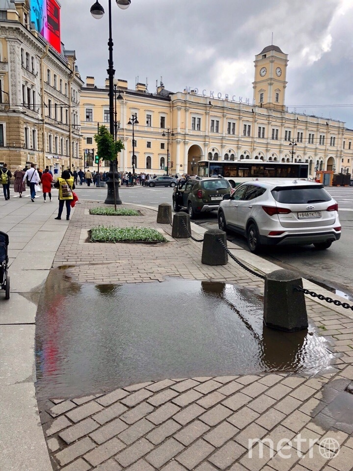 Так выглядела площадь Восстания этой весной. Фото mytndvor, vk.com