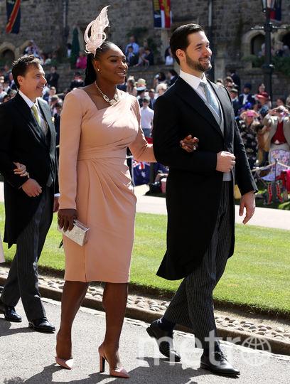 Серена Уильямс на свадьбе принца Гарри и Меган Маркл. Фото Getty