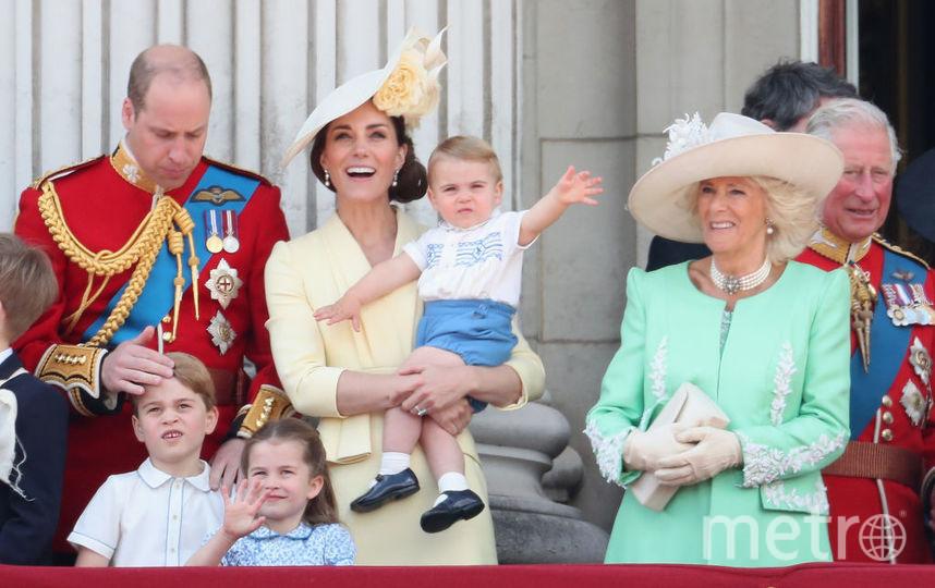 Семья Кембриджей на празднике королевы 8 июня 2019 года. Фото Getty