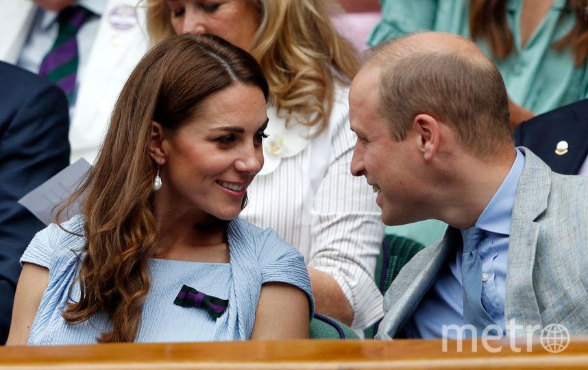 Кейт Миддлтон с принцем Уильямом на Уимблдоне. 14 июля 2019 года. Фото Getty
