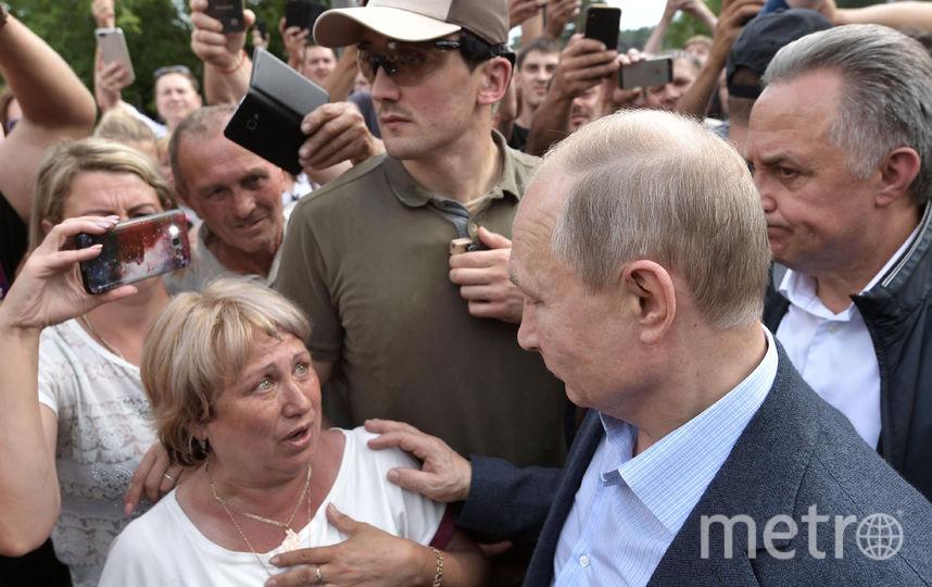 Путин на встрече с жителями Тулуна. Фото РИА Новости