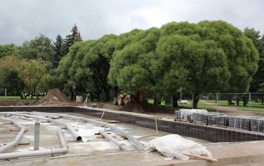 Реконструкции фонтана в Любашинском саду. Фото gov.spb.ru