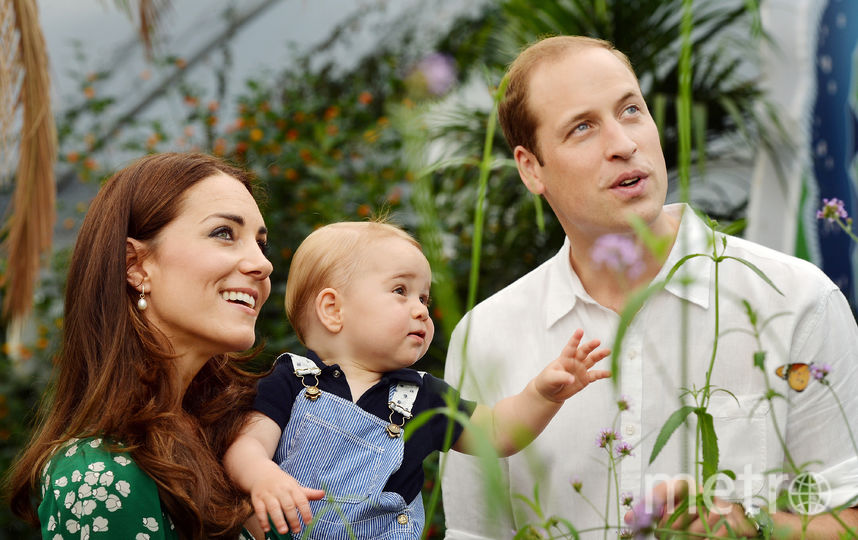 Принц Джордж с родителями. Фото Getty