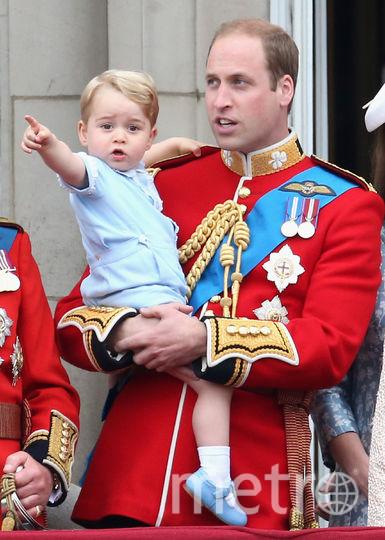 Принц Джордж и принц Уильям, 2015 год. Фото Getty