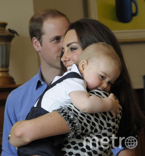Принц Джордж и Кейт Миддлтон, 2014 год. Фото Getty