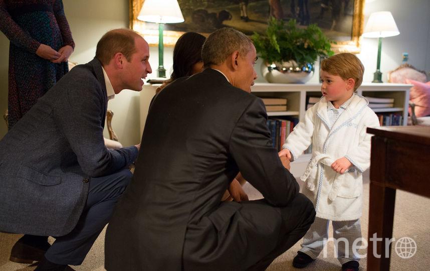 Принц Уильям, Барак Обама и принц Джордж. Фото Getty
