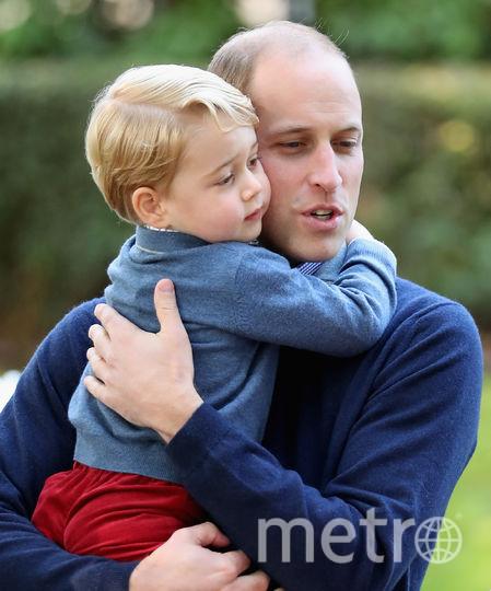 Принц Джордж с принцом Уильямом, 2016 год. Фото Getty