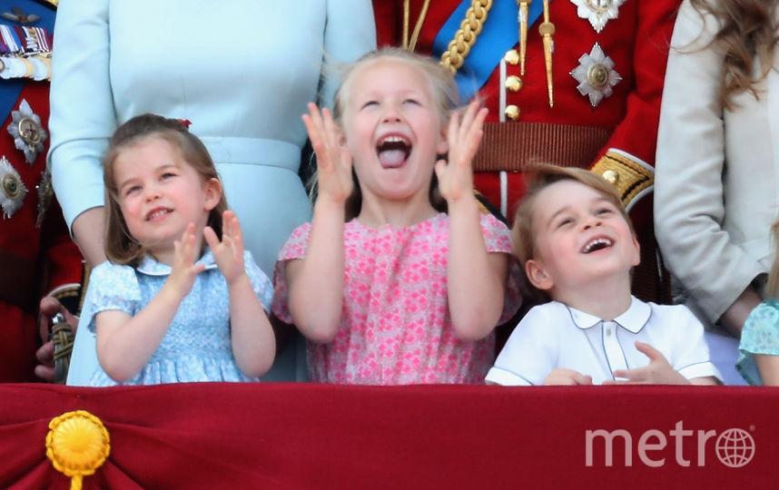 Принцесса Шарлотта, Саванна Филлипс и Принц Джордж, 2018 год. Фото Getty