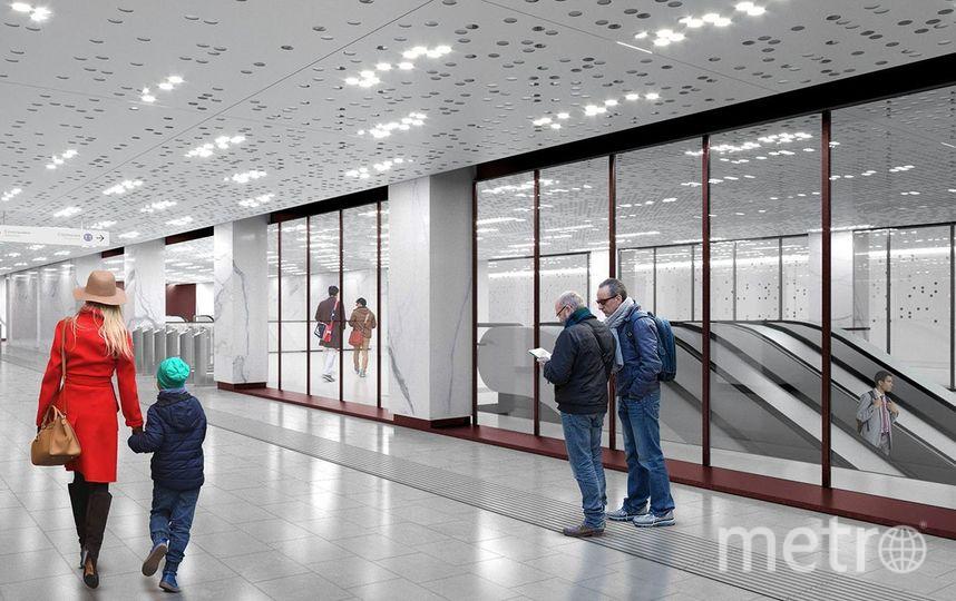 """Проект станции """"Стромынка"""" БКЛ. Фото Предоставлено пресс-службой Москомархитектуры, """"Metro"""""""