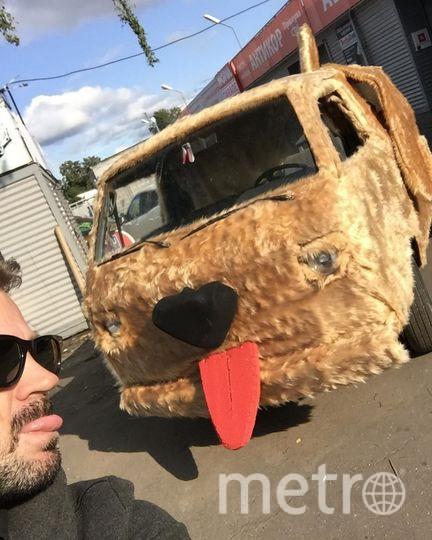 """Собакомобиль - почти полная копия машины из фильма с Джимом Керри """"Тупой и еще тупее"""". Фото https://www.instagram.com/romariopritula/, """"Metro"""""""