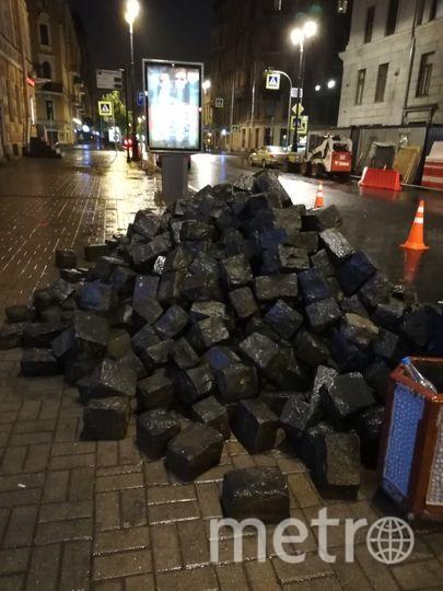 Петербуржцы выступили против бетонных поребриков. Фото mytndvor, vk.com