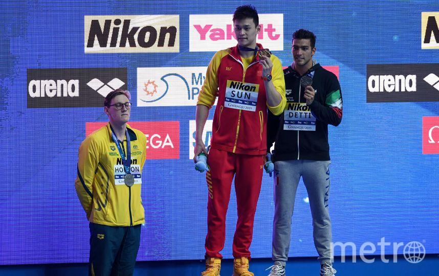 Международная федерация плавания (FINA) вынесла Хортону предупреждение за его поведение на церемонии награждения. Фото AFP