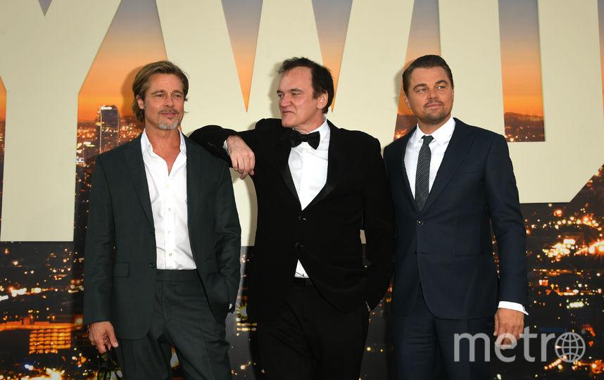 Брэд Питт, Квентин Тарантино и Леонардо Ди Каприо. Фото Getty