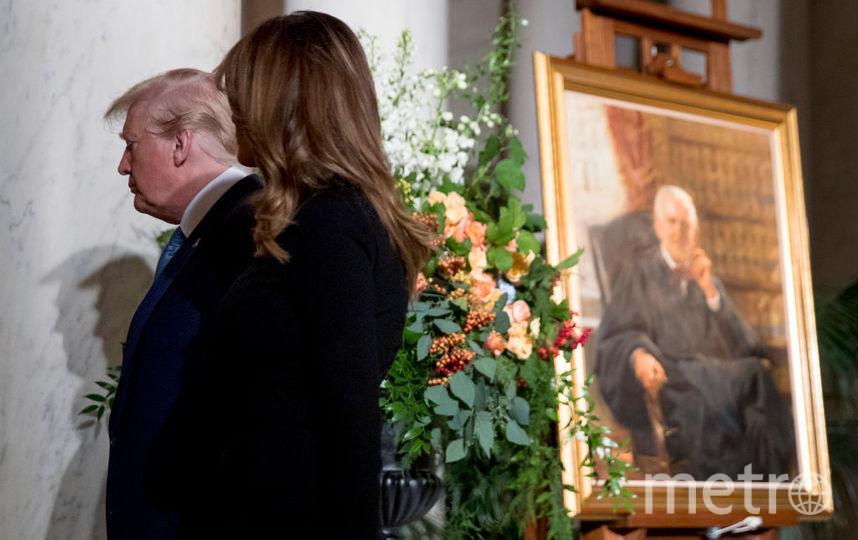 Дональд и Мелания Трамп на прощании с судьей. Фото Getty