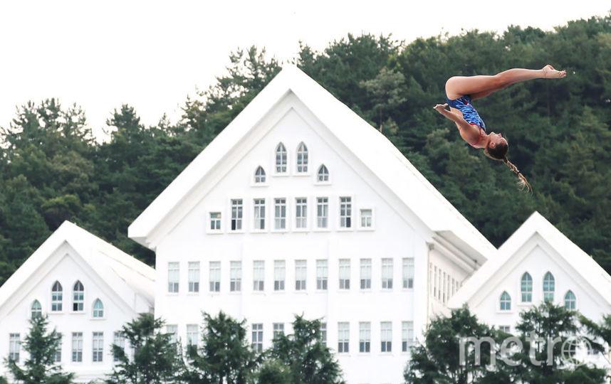 Мужчины выполняютсерию из пяти прыжков с высоты 27 метров, женщины — из трёхпрыжков с 20 метров. Фото Getty