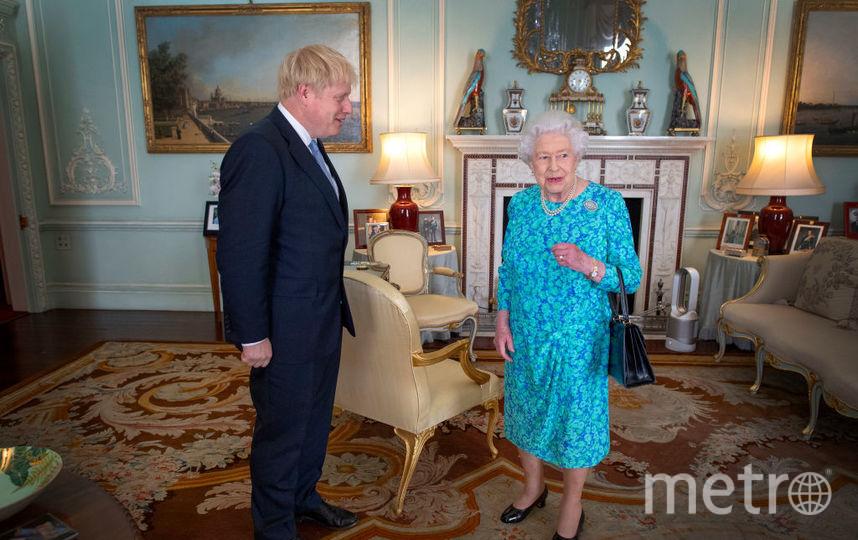 Борис Джонсон на приеме у Елизаветы II. Фото Getty