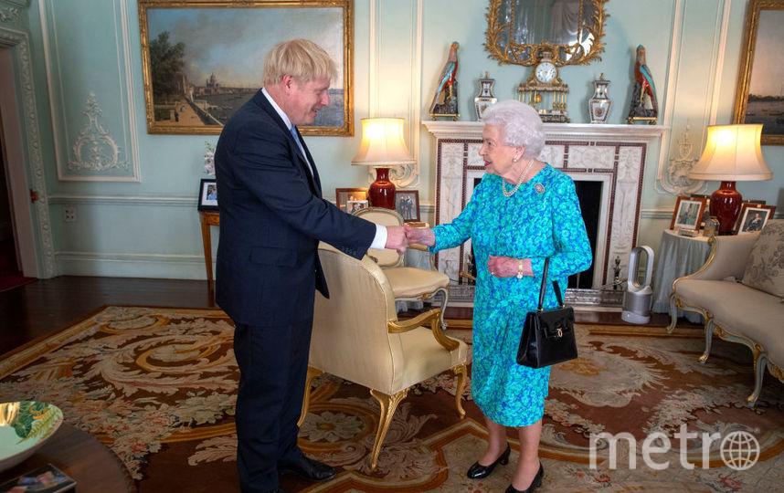 Борис Джонсон на приеме у королевы. Фото Getty
