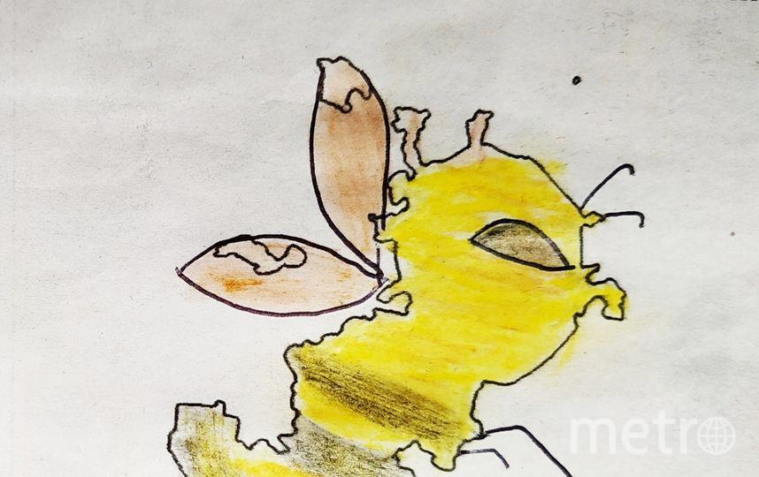 Москвичи много работают. Контуры самой Москвы напомнили мне большую трудолюбивую пчелу. Это я и попыталась нарисовать. Фото Ирина Жидких