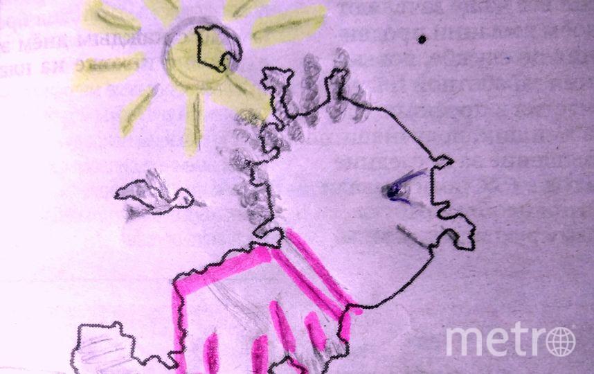 Я почему-то сразу увидел в силуэте маленького ребенка на лужайке в погожий солнечный денек. В руки ему просится ведерко с лопаткой, что дополнит образ строящейся Москвы. Фото  В.Л.Глебский
