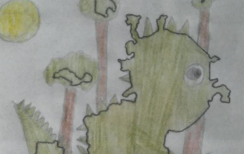 Динозавр - очень добрый и весёлый. Фото Фокин Дима 10, лет