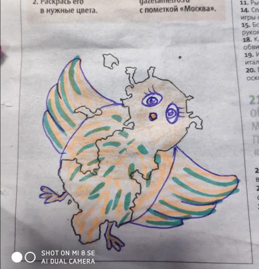 Москва-воробушек. Фото Автор рисунка Амуланга