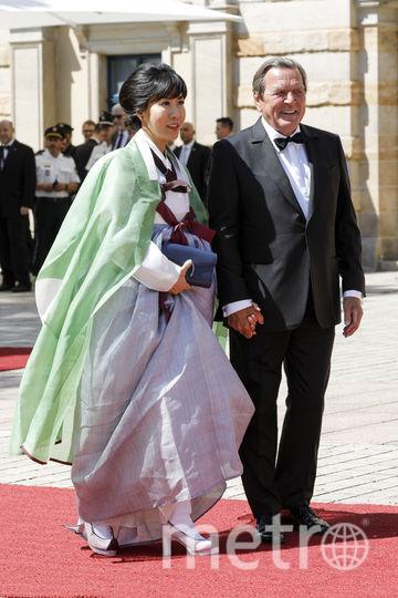 Герхард Шредер приехал на открытие со своей супругой. Фото Getty