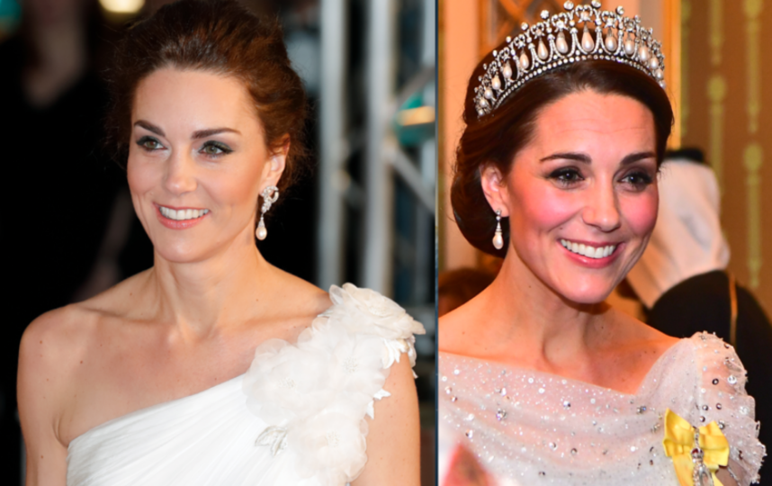Такие изменения заметили в лице Кейт. Фото до Нового года и после. Фото Getty