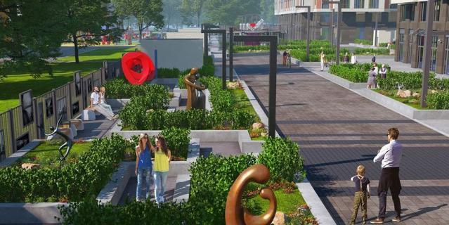 В новом сквере появится аллея с работами современных петербургских скульпторов.