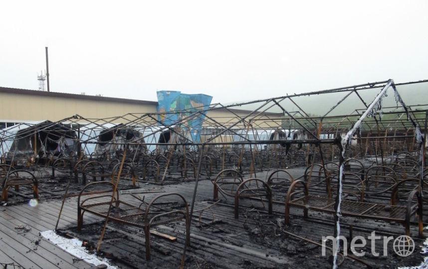 Сгоревший палаточный лагерь. Фото ГУ МЧС по Хабаровскому краю