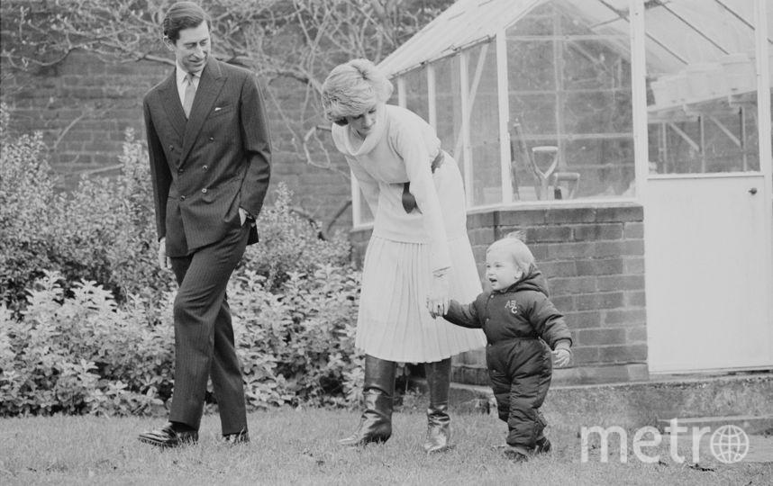 Принц Чарльз, леди Диана и их сын – принц Уильям. Фото Getty