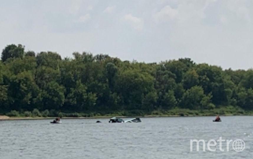 Воздушное судно упало в реку Ока. Фото http://50.mchs.gov.ru