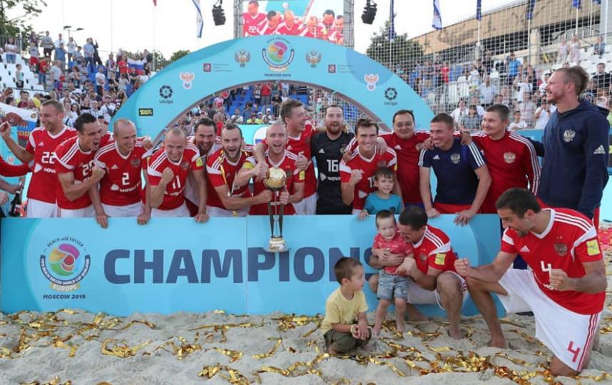 Сборная России по пляжному футболу выиграла квалификацию ЧМ-2019. Фото Скриншот @teamrussia