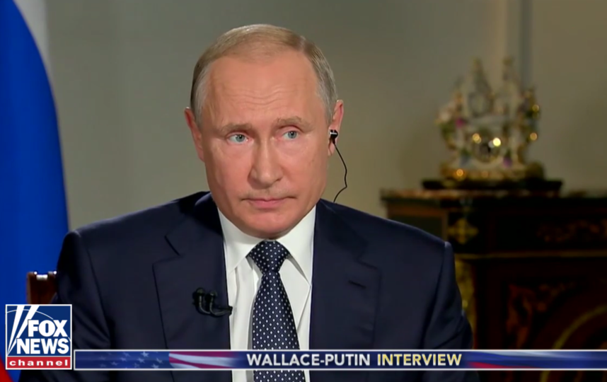 Владимир Путин. Фрагмент интервью. Фото https://video.foxnews.com/v/5810009147001/#sp=show-clips
