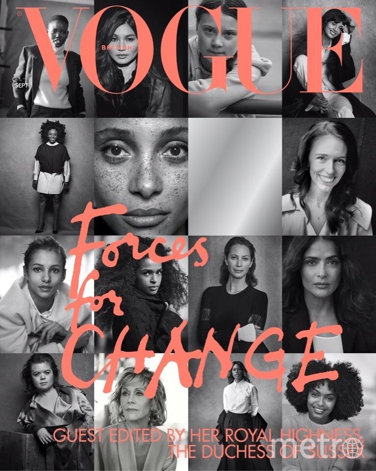 """Это обложка номера Vogue. Фото """"Metro"""""""