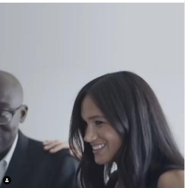 """Фрагмент видео о новом журнале Vogue, редактором которого стала Меган Маркл. Фото https://www.instagram.com/p/B0ff0ctlVYT/, """"Metro"""""""