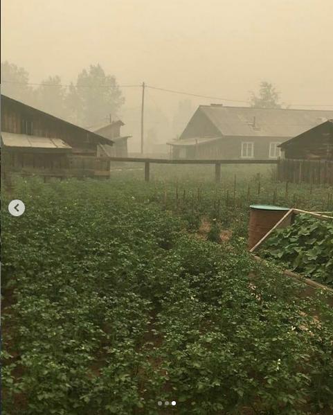 Смог в посёлке Березняки Иркутской области. Фото скриншот instagram.com/nebo.community/?hl=ru