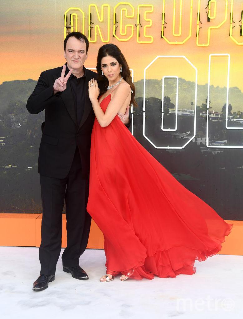"""Премьера """"Однажды в Голливуде"""" в Лондоне. Квентин Тарантино с женой. Фото Getty"""