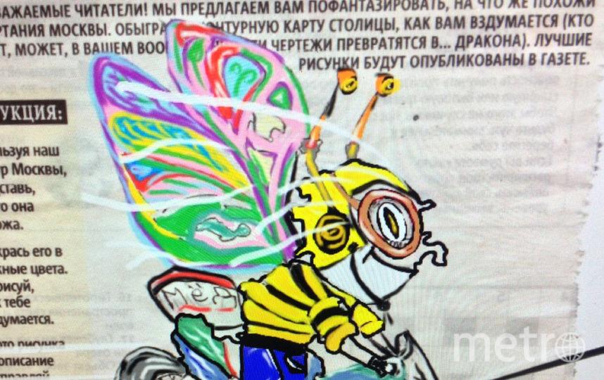 Вот такой яркий рисунок сделал наш читатель Денис. Фото Денис Шпынов